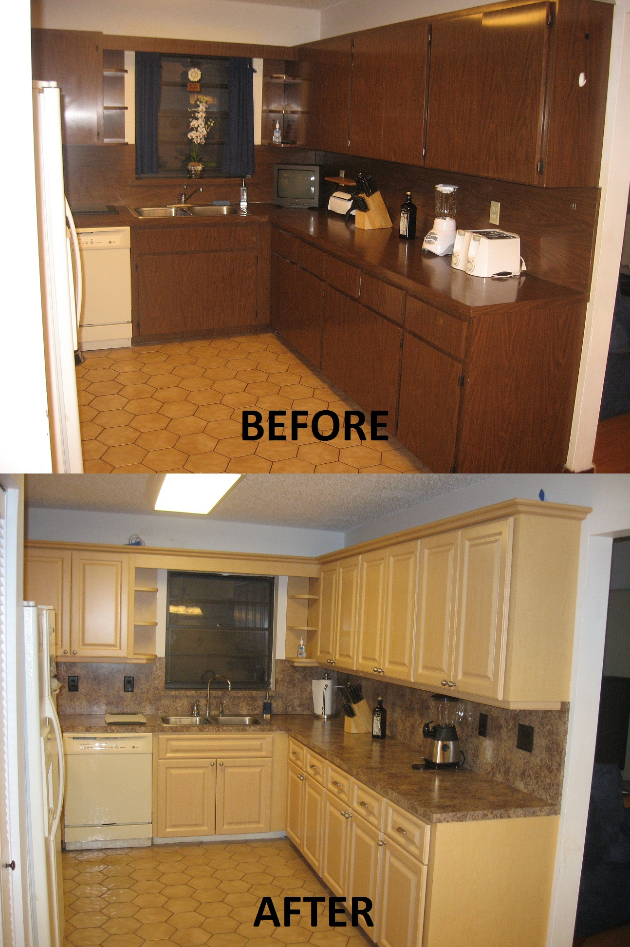 Before Amp After Pictures Kitchen Refacing Specialist Inc 954 494 1130kitchen Refacing