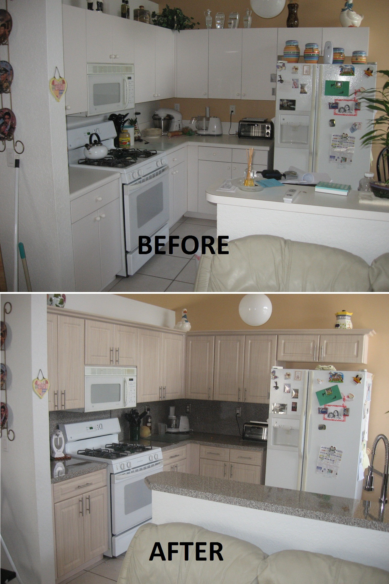 Before Amp After Pictures Kitchen Refacing Specialist Inc