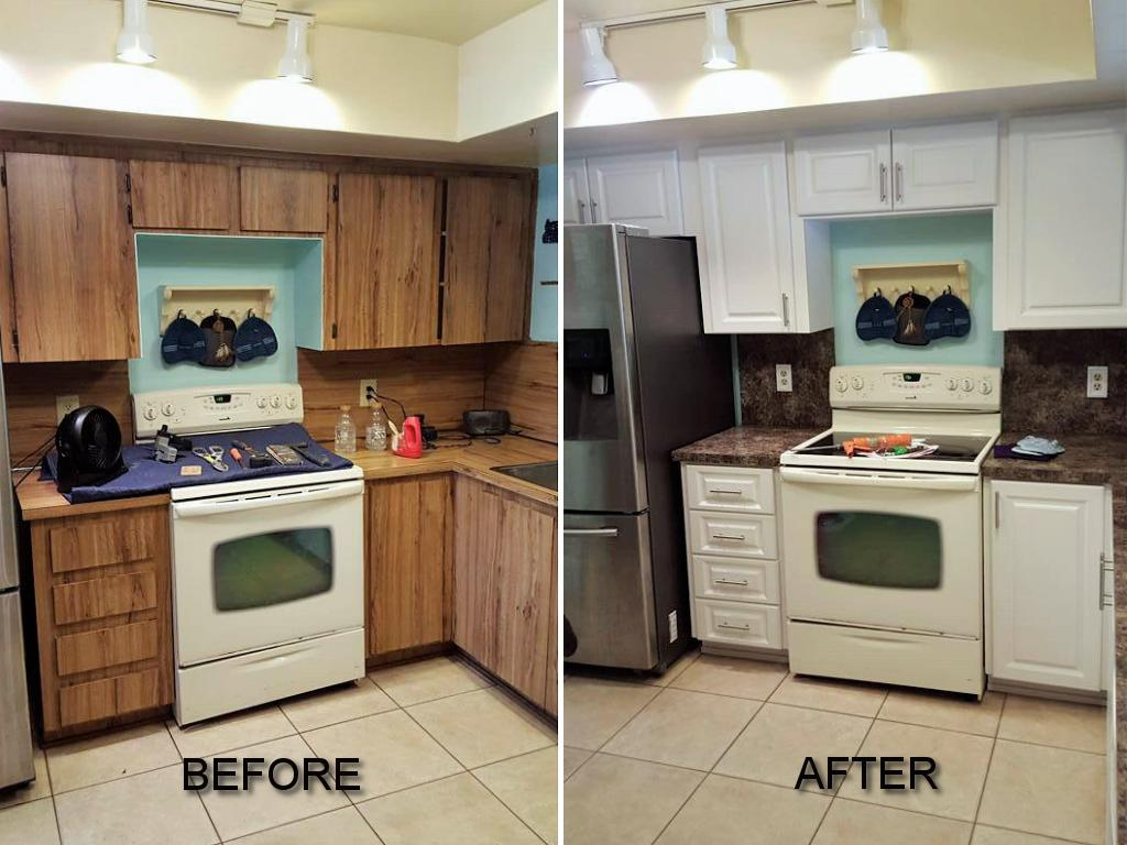 Before Amp After Pictures Of Kitchen Cabinet Refacing Call