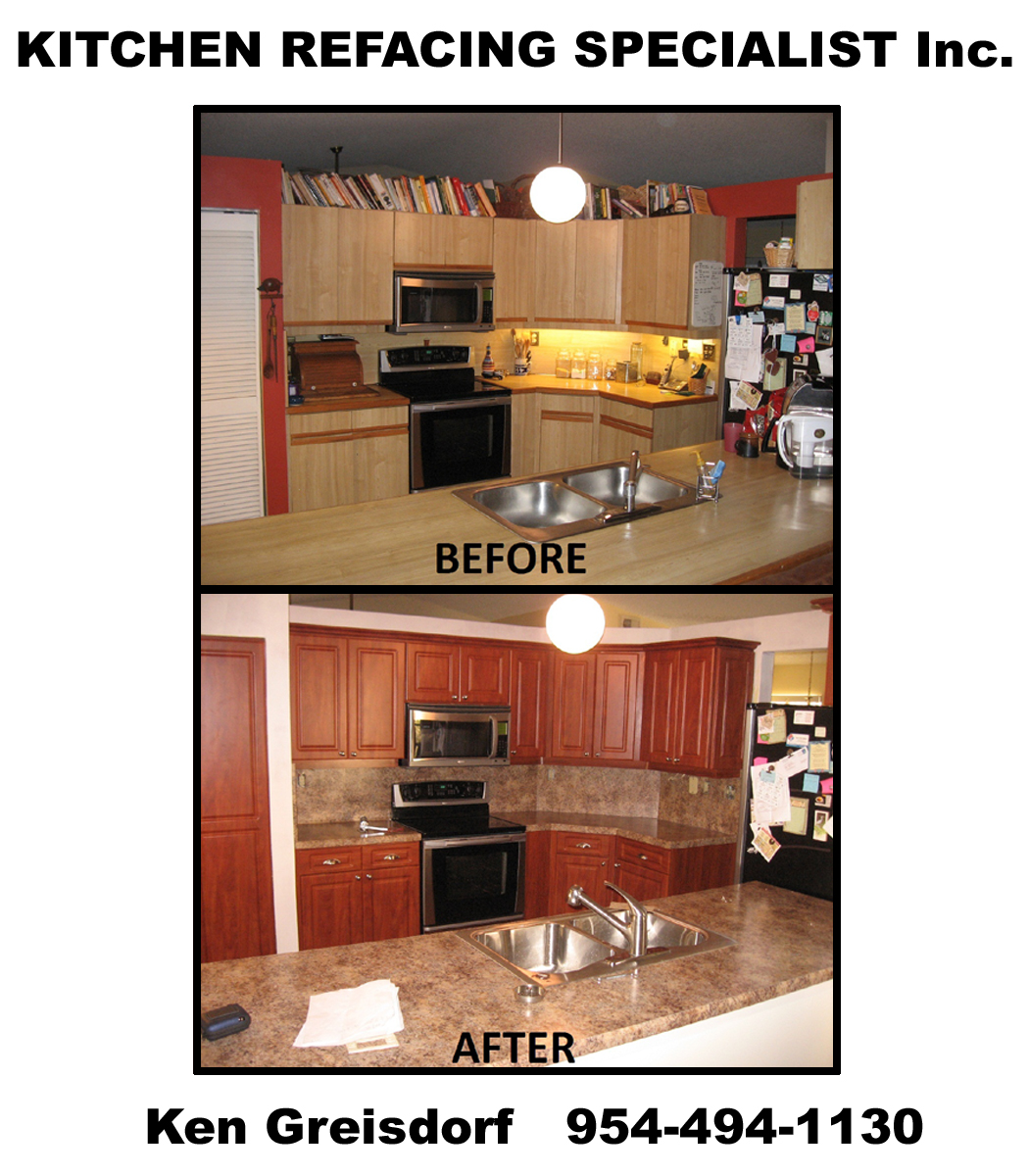 Before And After Pictures Refacing Cabinets: Before & After Pictures Of Kitchen Cabinet Refacing. Call