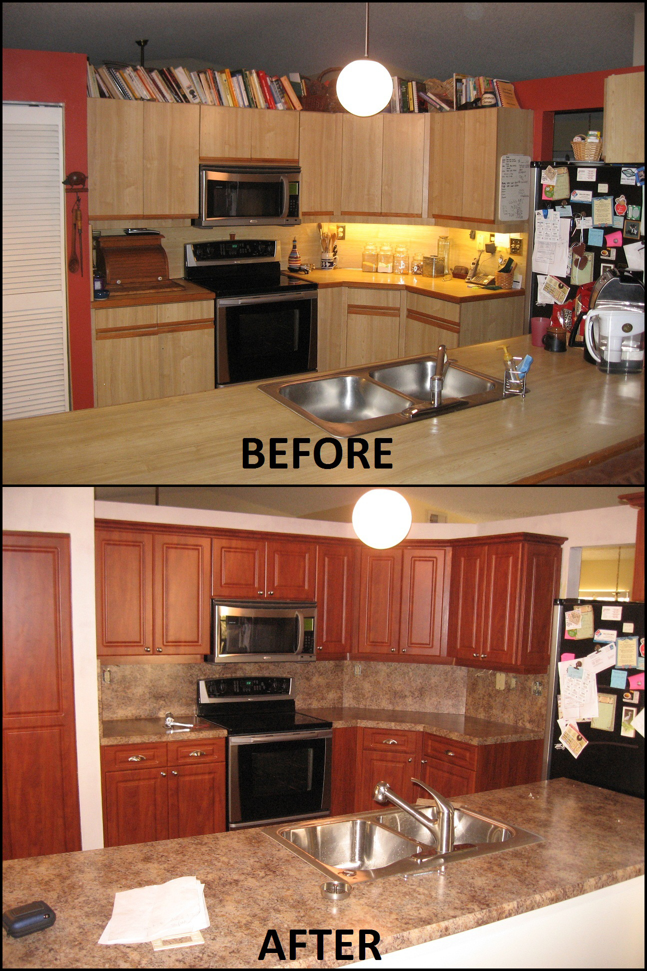 Before After Pictures Of Kitchen Cabinet Refacing Call Now For A