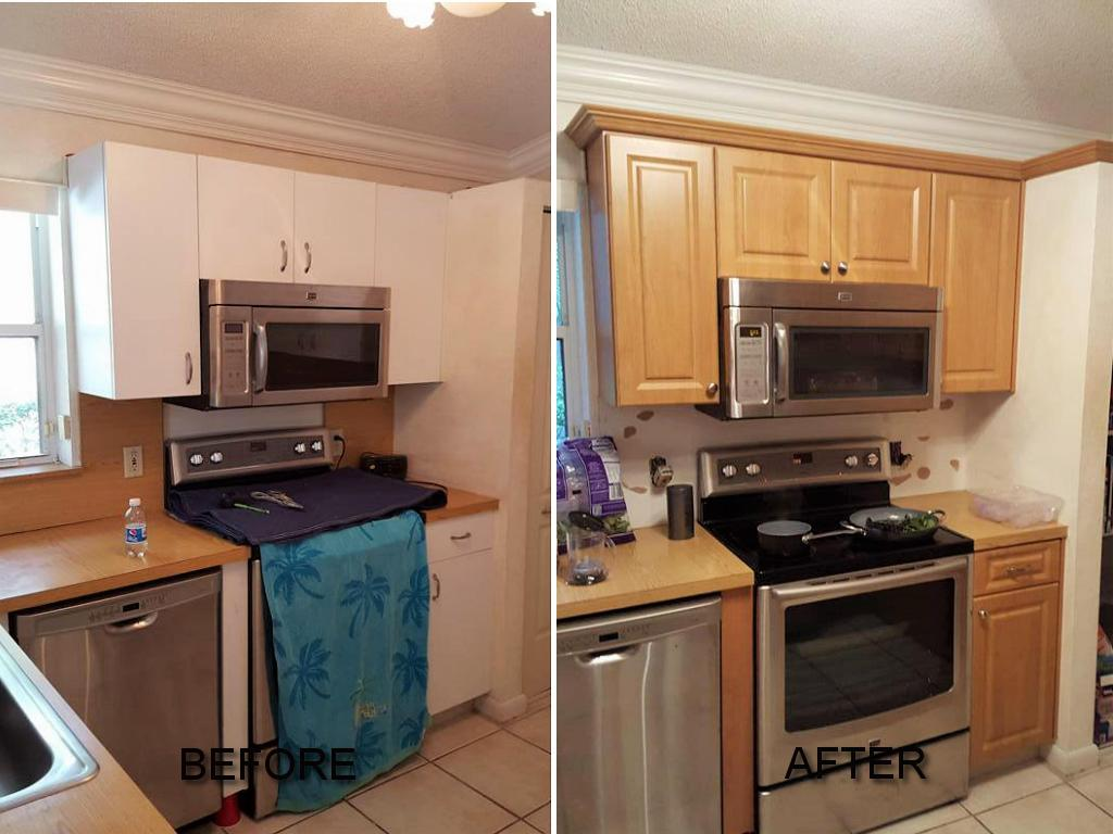Before After Pictures Of Kitchen Cabinet Refacing Call