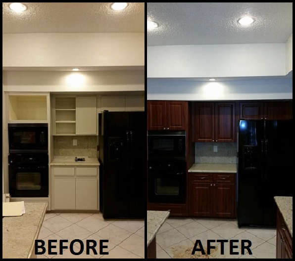 Kitchen Cabinets In Fort Lauderdale: Before & After Pictures Of Kitchen Cabinet Refacing. Call